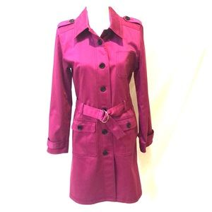 Apostrophe Belted Trench Coat NWOT